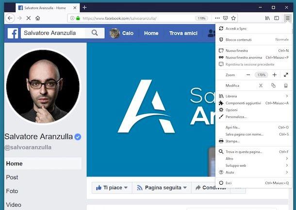 Come ingrandire i caratteri di Facebook