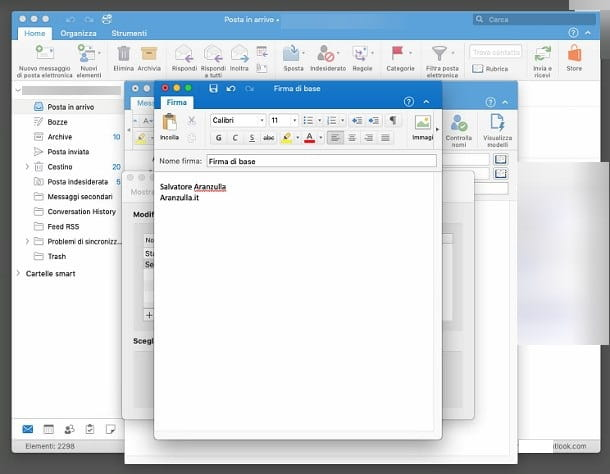 Inserire una firma in Outlook per Mac