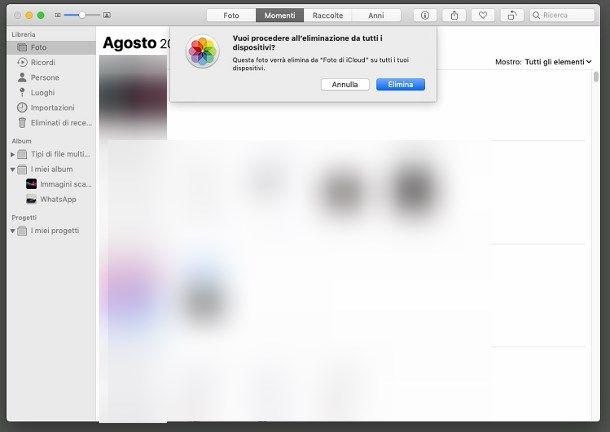 Come eliminare foto da iCloud su Mac