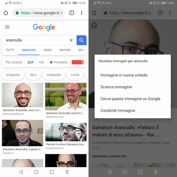 google chrome scaricare immagini