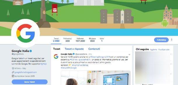 Come contattare Google Maps Italia - Twitter