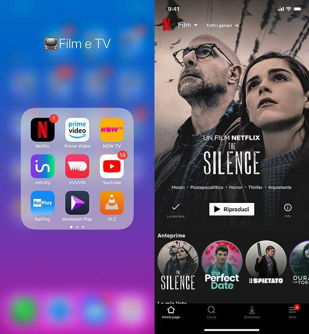 App per vedere film su iPhone