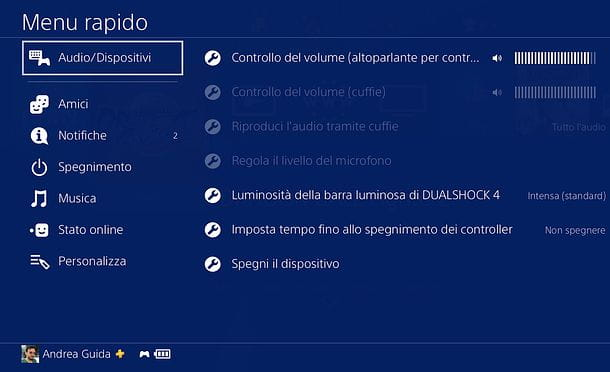 Come spegnere controller PS4