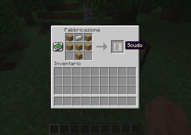 Creare uno scudo su Minecraft