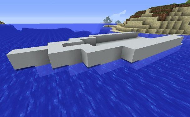 minecraft sezione scafo yacht