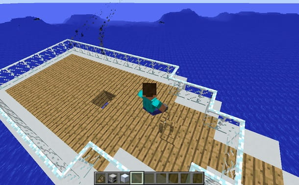 minecraft yacht in movimento