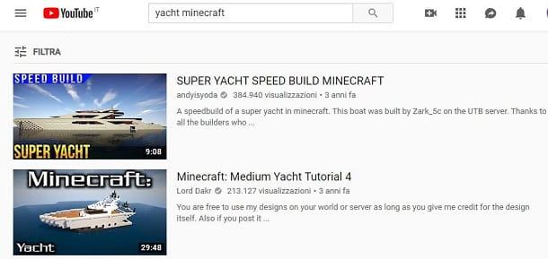 minecraft yacht youtube