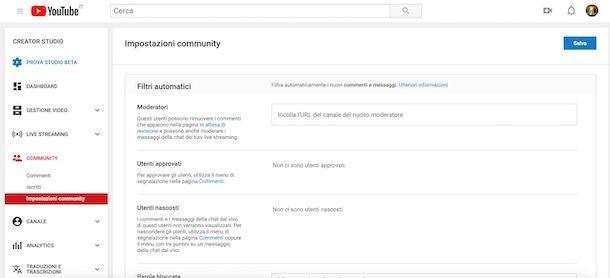 84142cbc9e4d60 In alternativa, se l'utente del canale del quale vuoi diventare moderatore  usa YouTube Studio, per aggiungere un nuovo moderatore dovrà cliccare sulla  voce ...