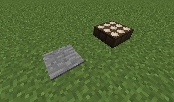 pedana e sensore Minecraft