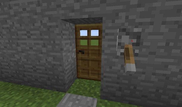 porta bloccata con leva minecraft