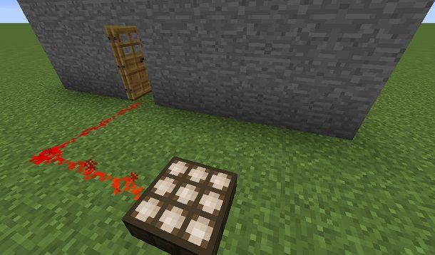 porta con sensore Minecraft