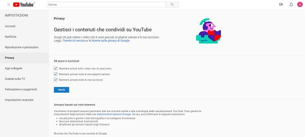 Privacy Youtube