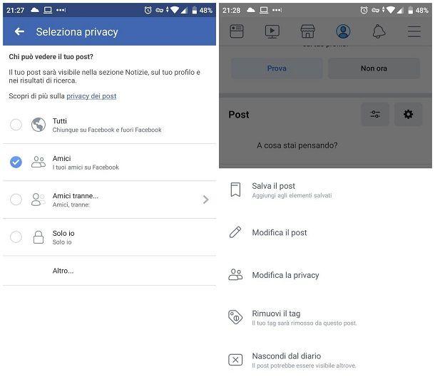 Come disattivare i commenti sui profili Facebook - smartphone e tablet