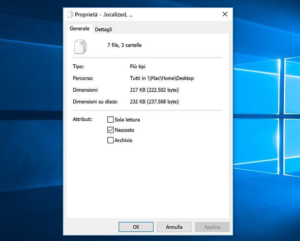 Come nascondere file e cartelle su Windows