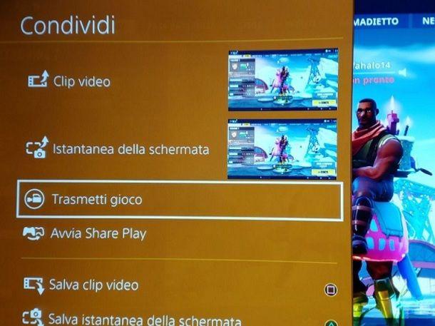 Trasmetti Gioco PS4