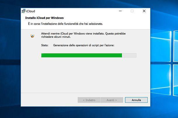 Installazione iCloud su Windows