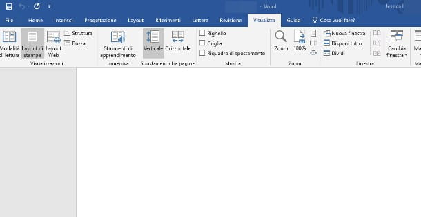 Inserire righello in Word per Windows