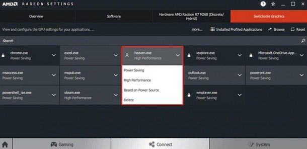 Pannello di controllo AMD