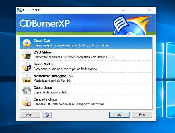 Programmi per masterizzare DVD superiori a 4.7 GB - CDBurnerXP