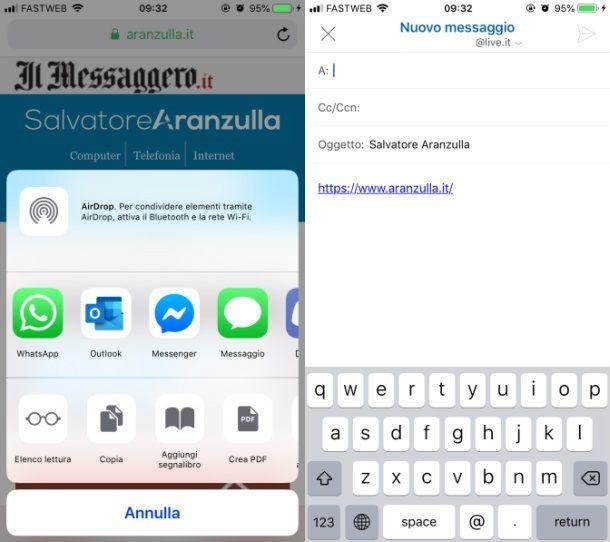 Condivisione iOS