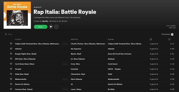 Follower Playlist Spotify Rap