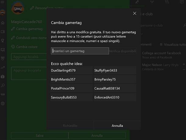 Gamertag app Xbox