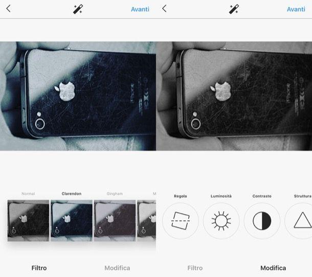 Modificare foto da Instagram