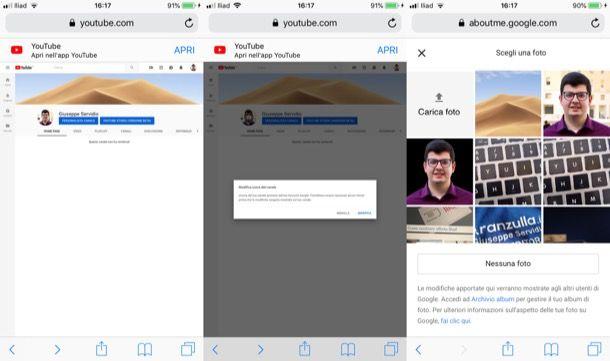 Come cambiare immagine YouTube sul cellulare