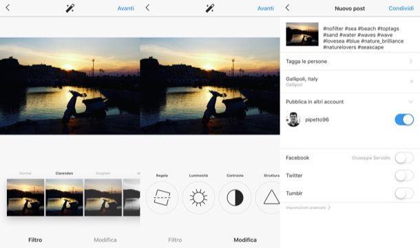Filtri di Instagram