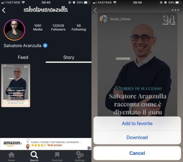 Instagram iOS download storie