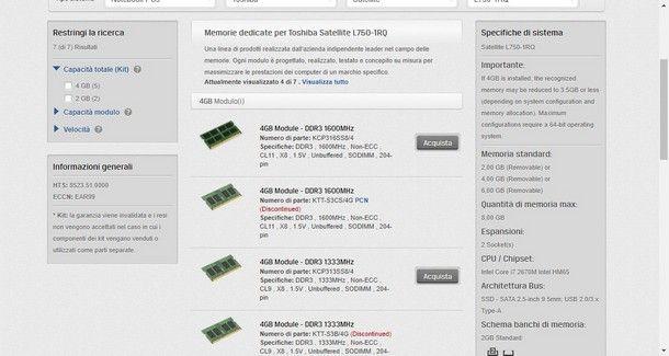 Come sapere quanta RAM supporta il PC - Kingston