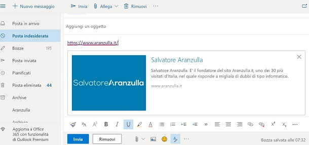 Link email windows
