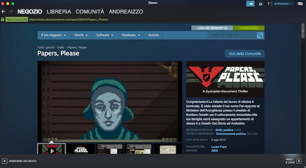 Papers Please su Steam