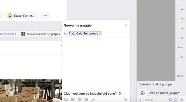 come mandare messaggi anonimi su messenger
