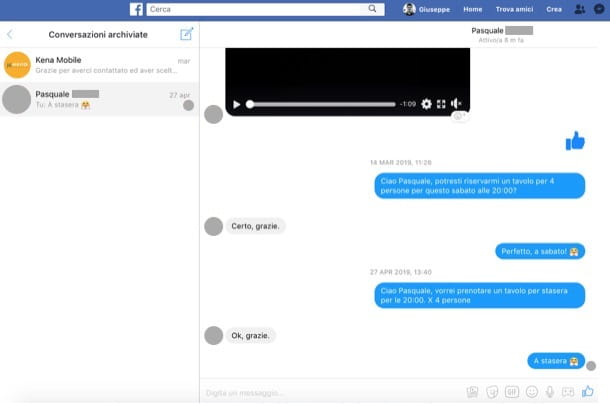 Come vedere i messaggi nascosti su Messenger