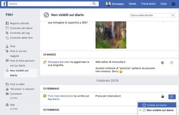 Come vedere messaggi nascosti Facebook