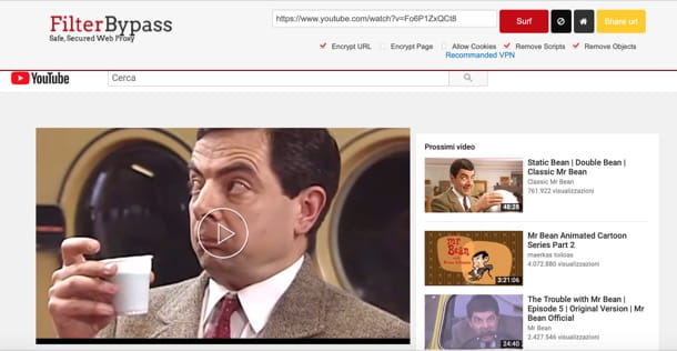 come accedere a YouTube bloccato