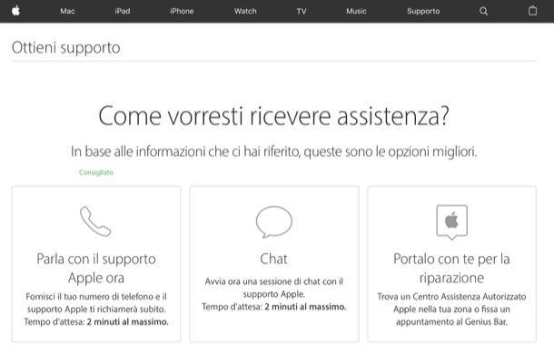 Assistenza Apple come funziona