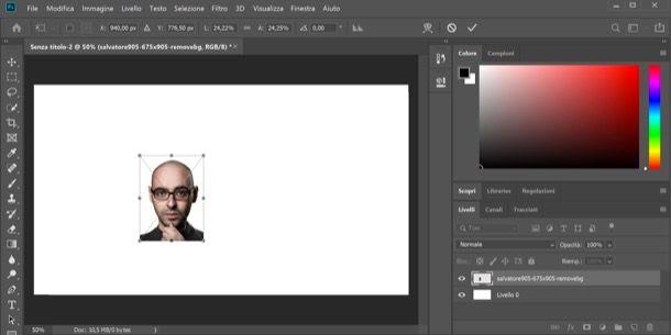 Copertina YouTube con Photoshop