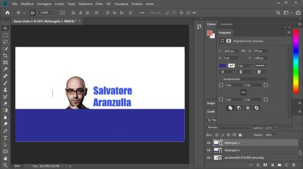 Photoshop inserimento testo
