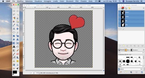 Rimuovere sfondo con GIMP