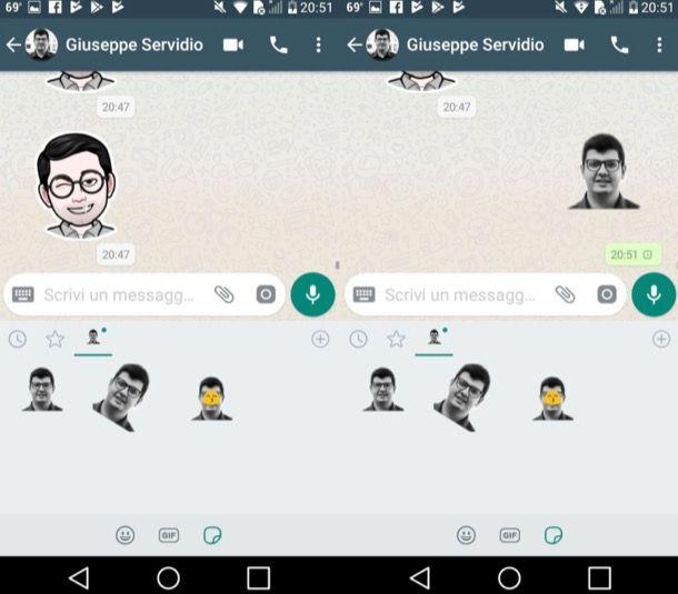 Inviare sticker WhatsApp Android