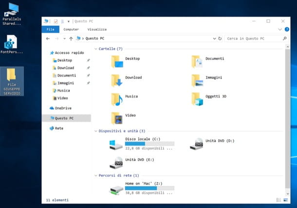 Windows 10 carattere diverso