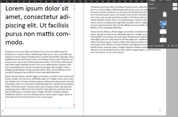 InDesign impaginazione documenti
