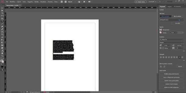 Interfaccia InDesign