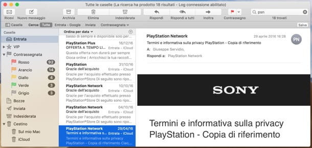 Email di Sony