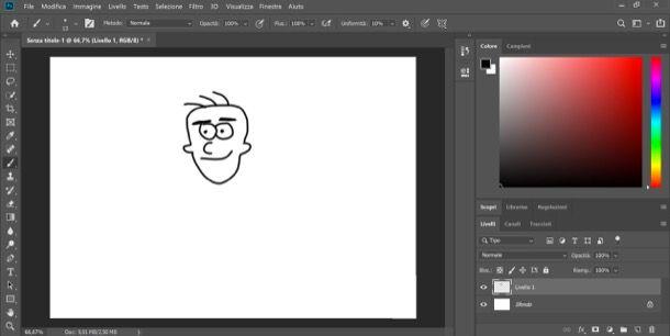 Disegno faccia Photoshop
