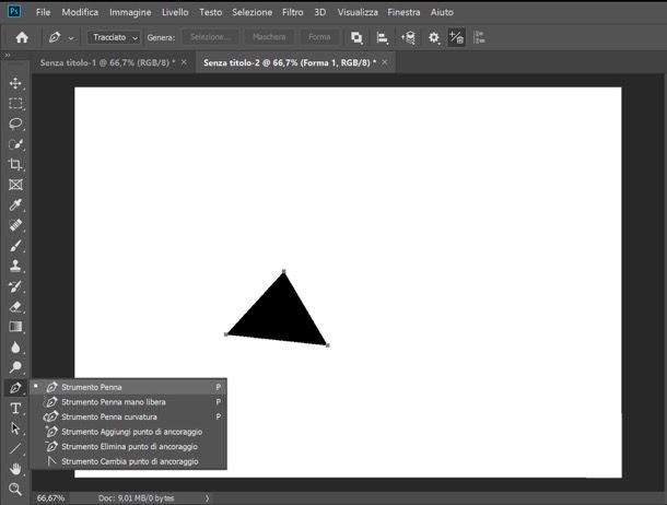 Triangolo Photoshop
