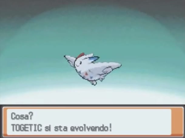 Togetic si sta evolvendo