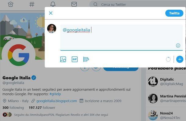 Twitter Google Italia